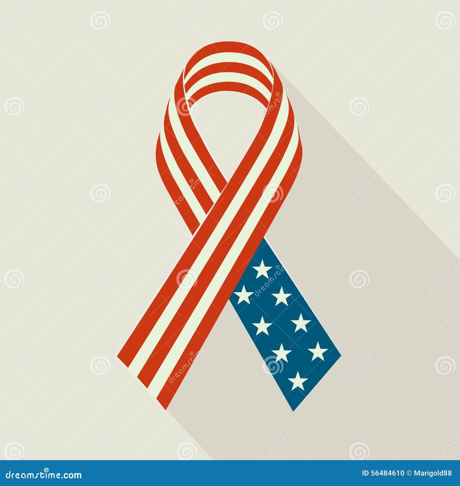 Ruban créatif avec le drapeau des Etats-Unis pour Memorial Day