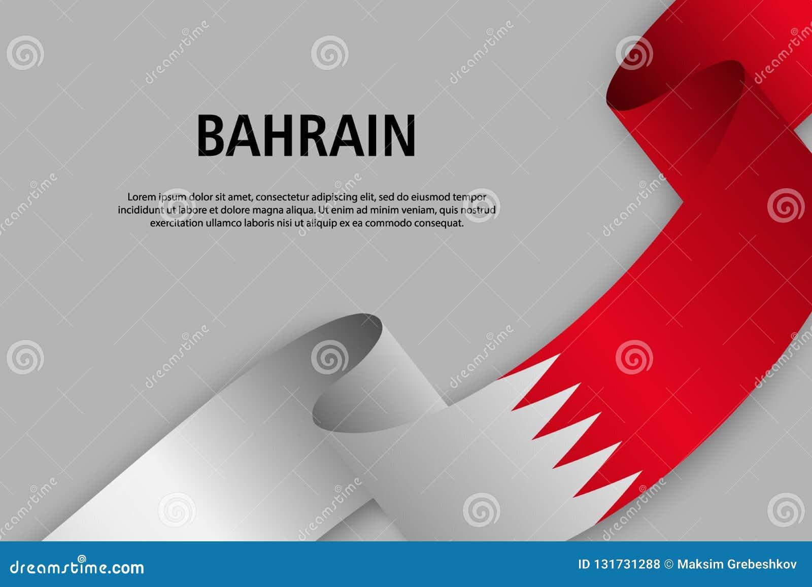 Ruban de ondulation avec le drapeau du Bahrain,