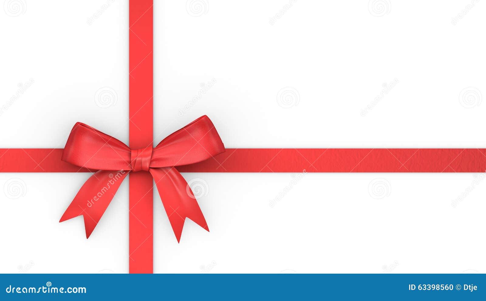 ruban et noeud rouges pour le cadeau de no l illustration stock image 63398560. Black Bedroom Furniture Sets. Home Design Ideas