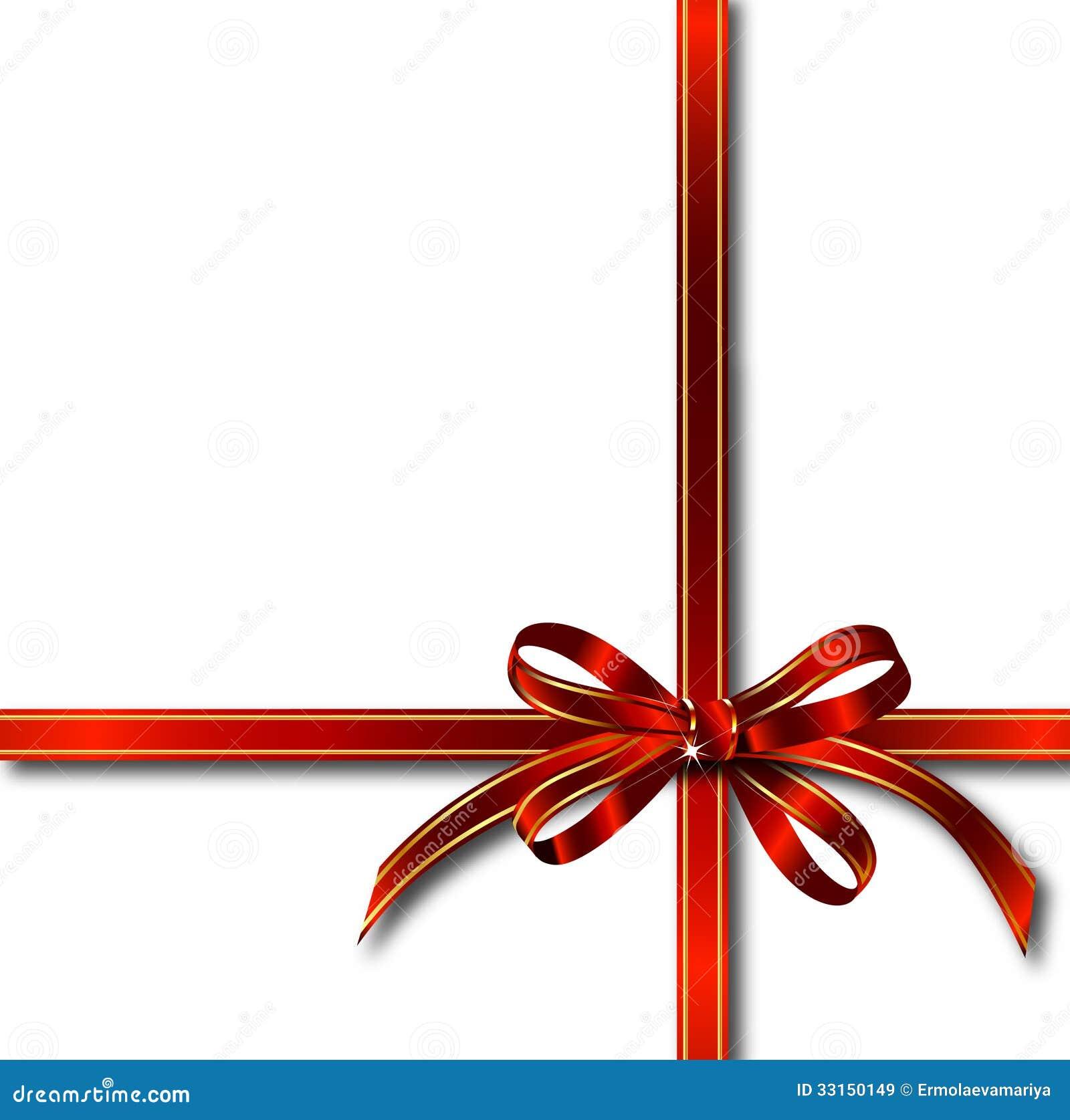 ruban rouge de cadeau au dessus de blanc vecteur images libres de droits image 33150149. Black Bedroom Furniture Sets. Home Design Ideas