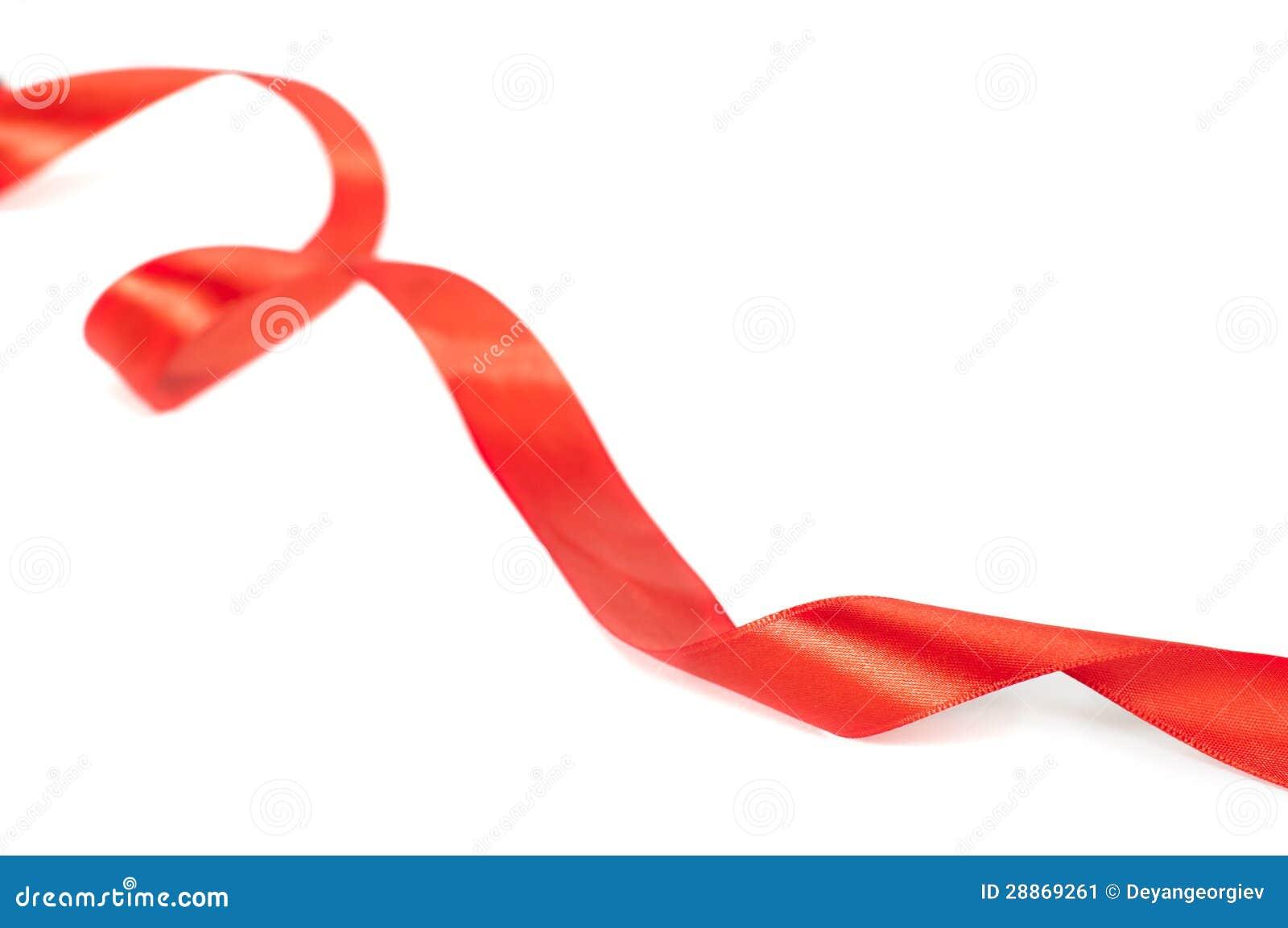 ruban rouge pour l 39 enveloppe de cadeau image stock image 28869261. Black Bedroom Furniture Sets. Home Design Ideas