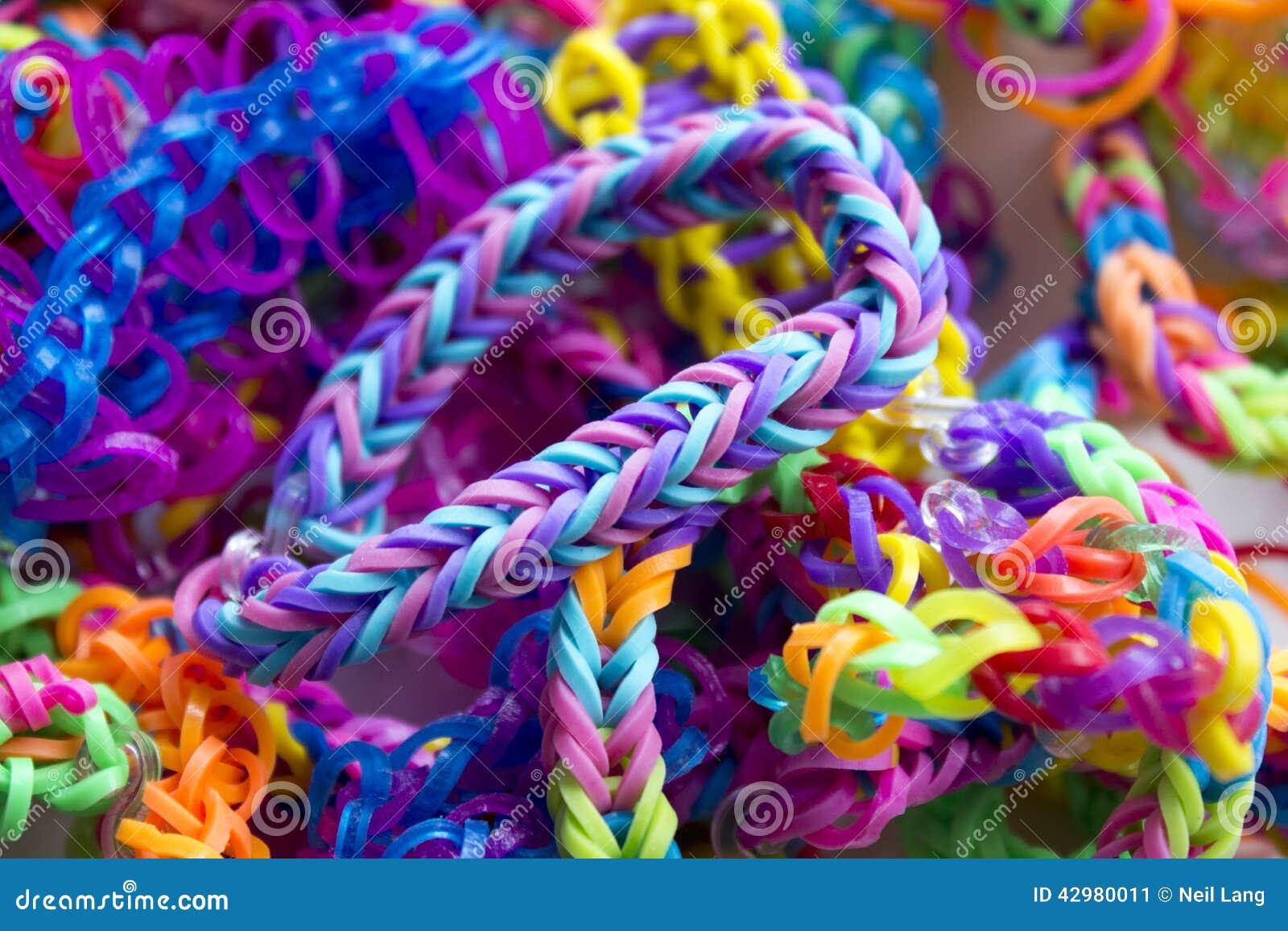 Rubber Band Bracelets Stock Image