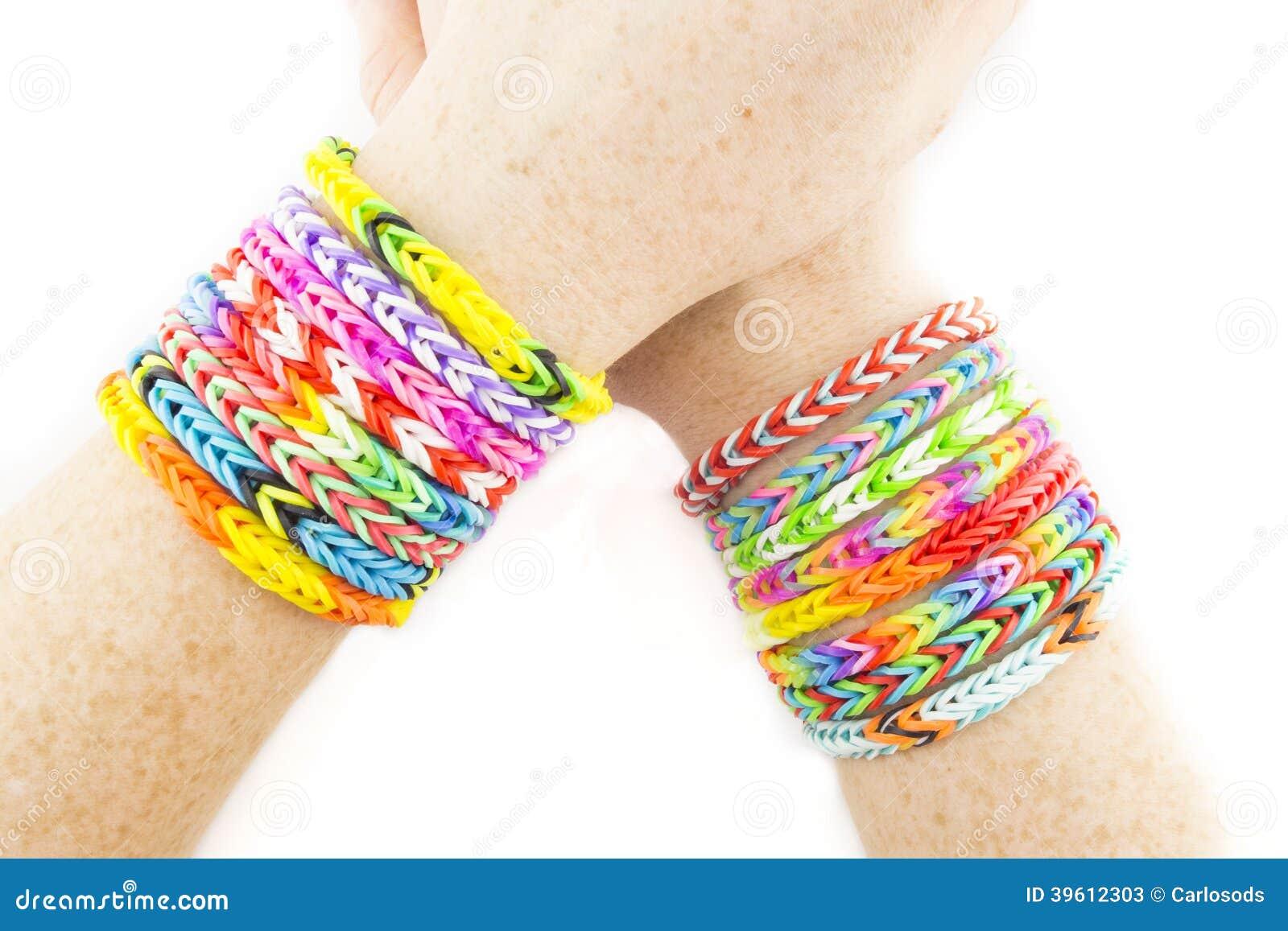 Rubber Bands Bracelets Stock Photos