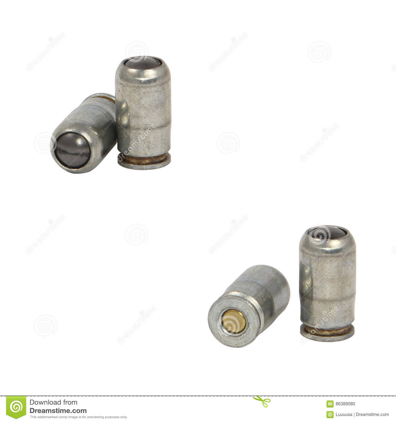 Rubber Bullets  Traumatic Cartridges Stock Photo - Image of