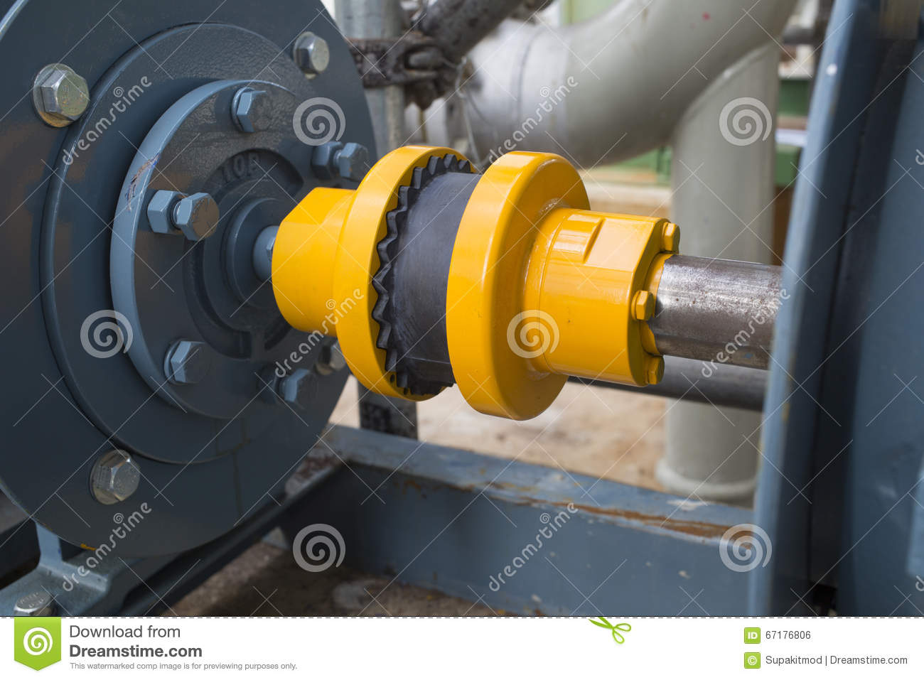 Rubber coupling during motor and pump stock photo image for Motor and pump coupling