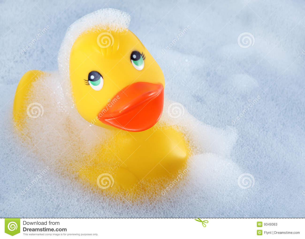 Rubber duck in the bath stock photos image 9349363