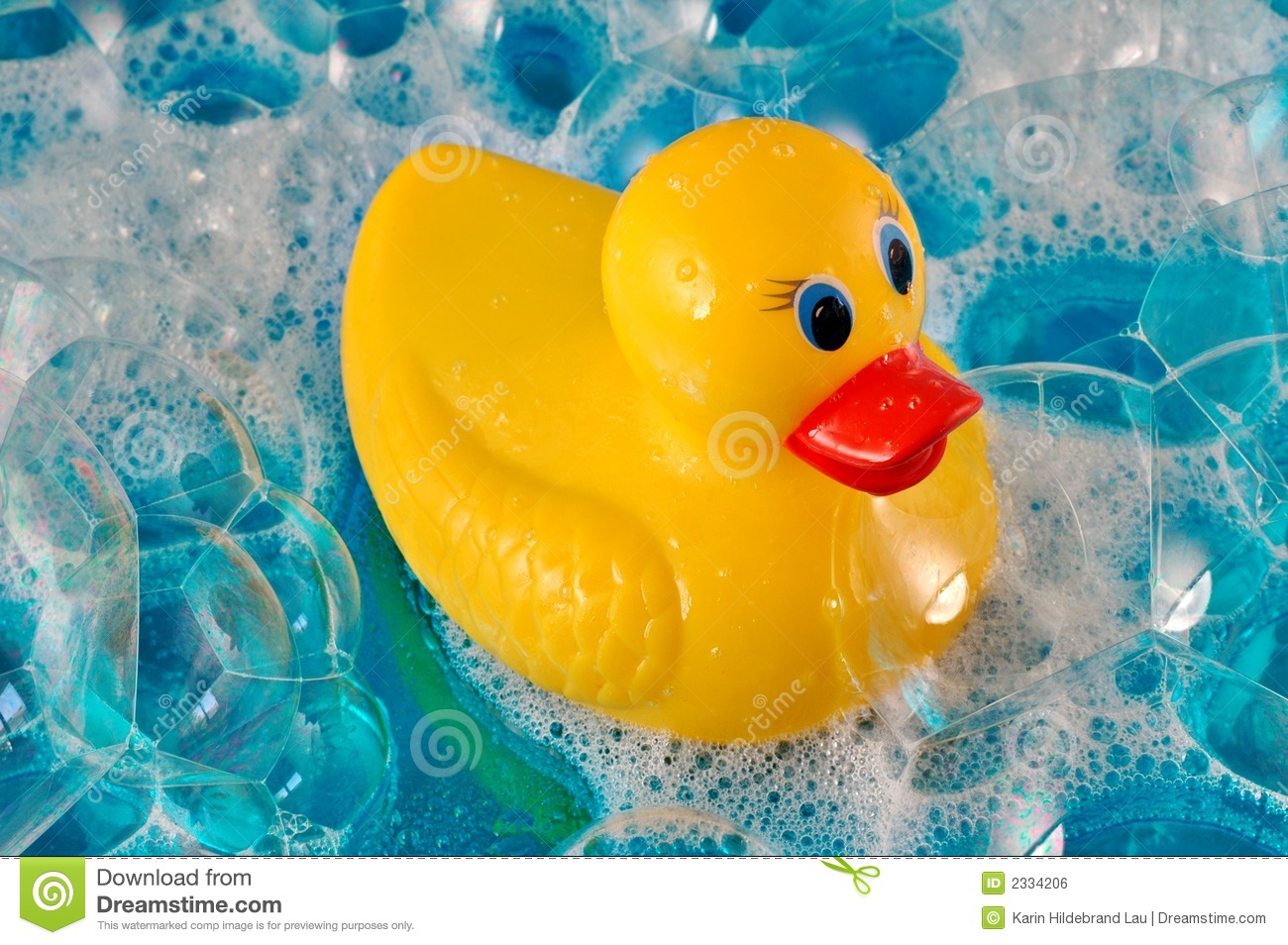Rubber Duck In Bubbles Royalty Free Stock Image Image