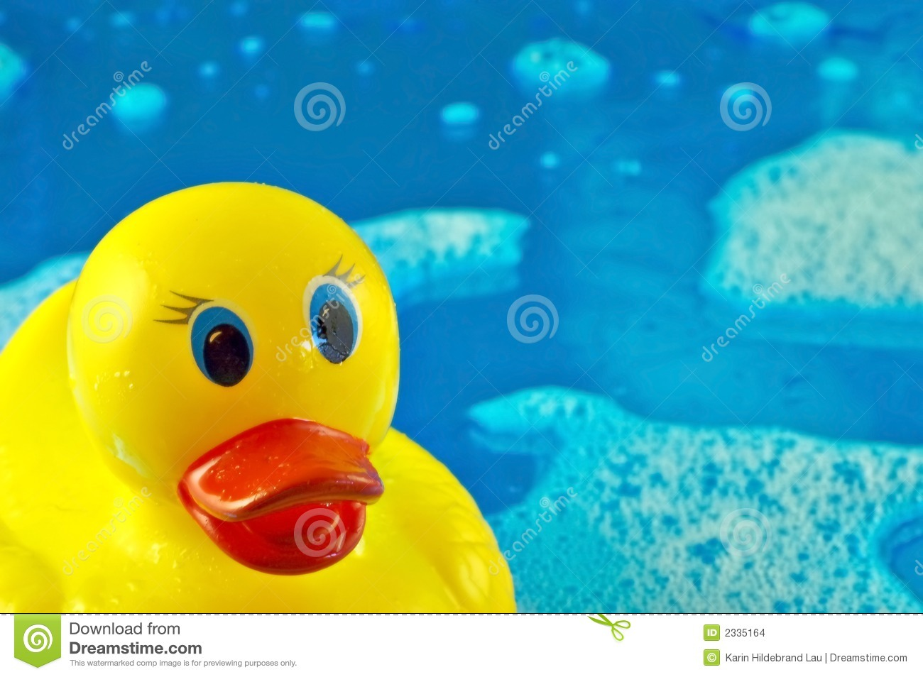 Rubber Duck In Bubbles Stock Photo Image Of Background 2335164