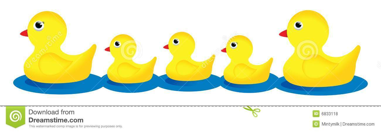 Rubber Duck Family Stock Illustration Illustration Of