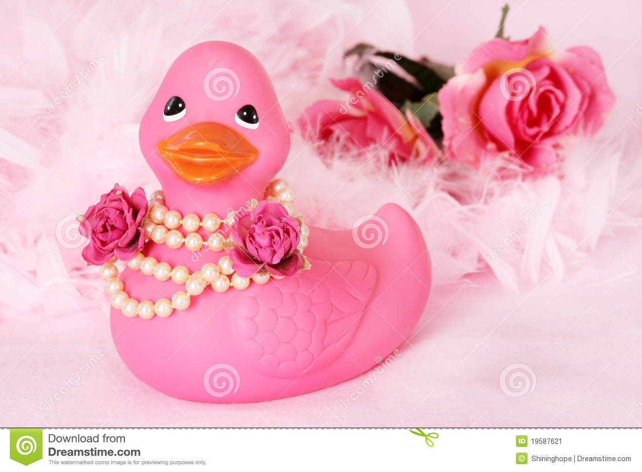 f2c6f2383 Rubber Duck Flower Girl stock image. Image of roses