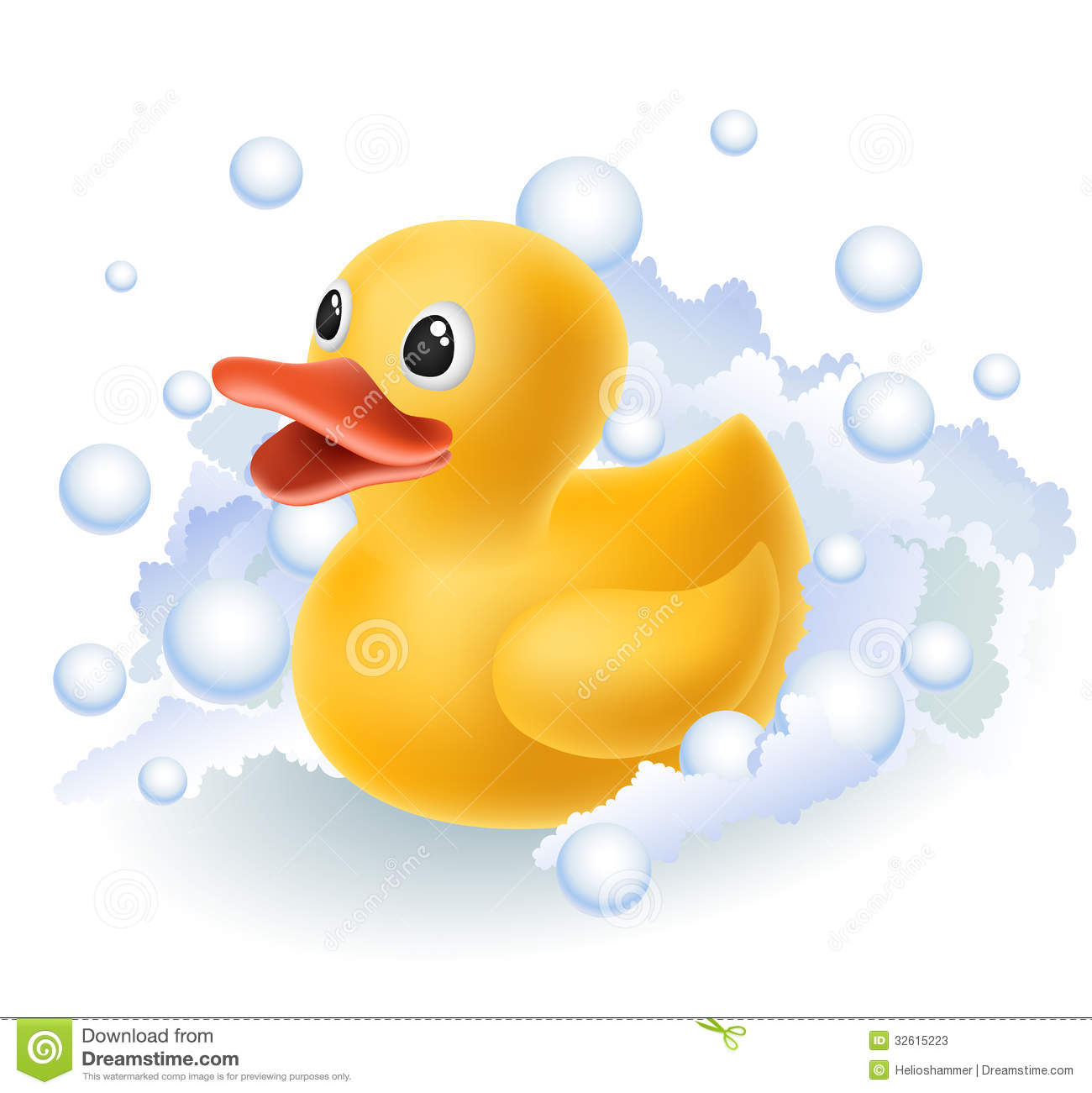 Rubber duck in foam stock vector. Illustration of cute - 32615223