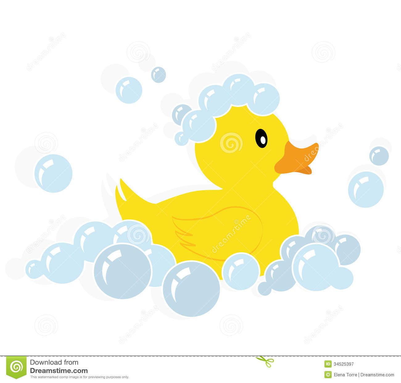 Rubber Duck Vector Stock Vector Illustration Of Duckling