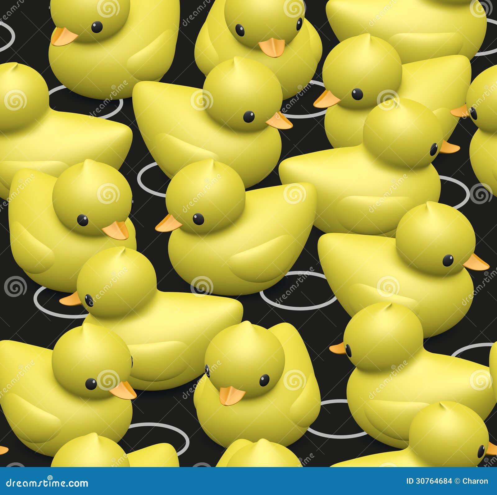 Rubber Duck Pattern Seamless Texture Kids Stock Photo