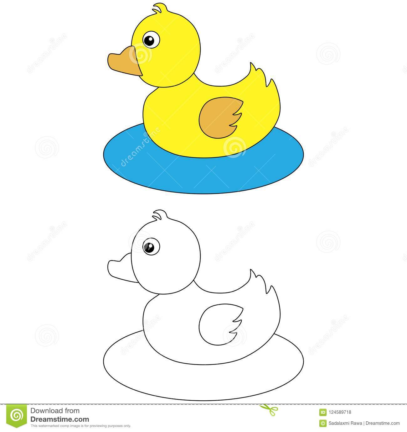 Rubber duck on water