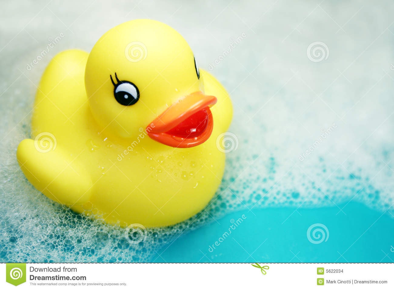 Rubber ducky at bath time stock photo image of refreshing 5622034