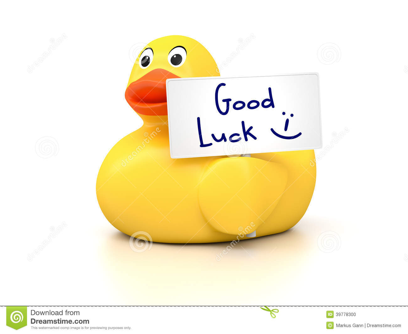 Rubber Ducky Good Luck Stock Illustration Image Of