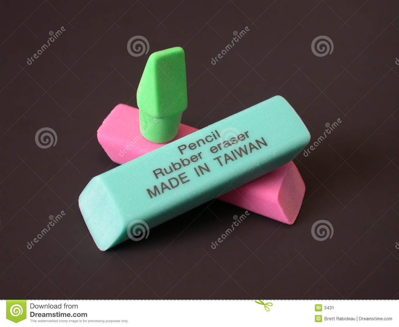 Rubber Erasers - Made in Taiwan