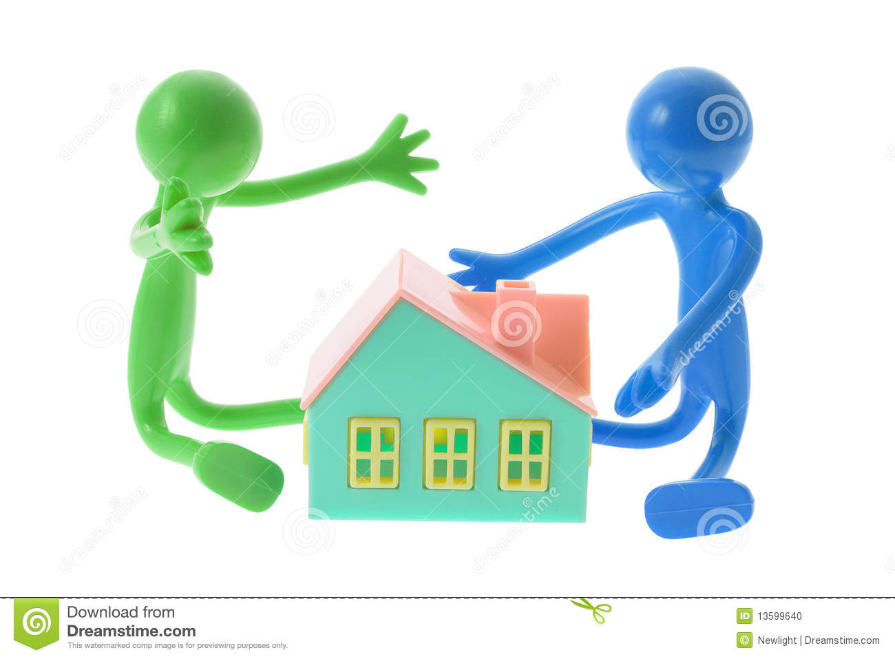 Download Rubber Figures With Toy House Stock Photo - Image of buying, figurines: 13599640