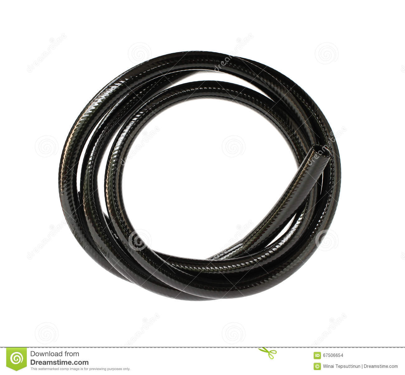 black rubber hose or pipe royalty
