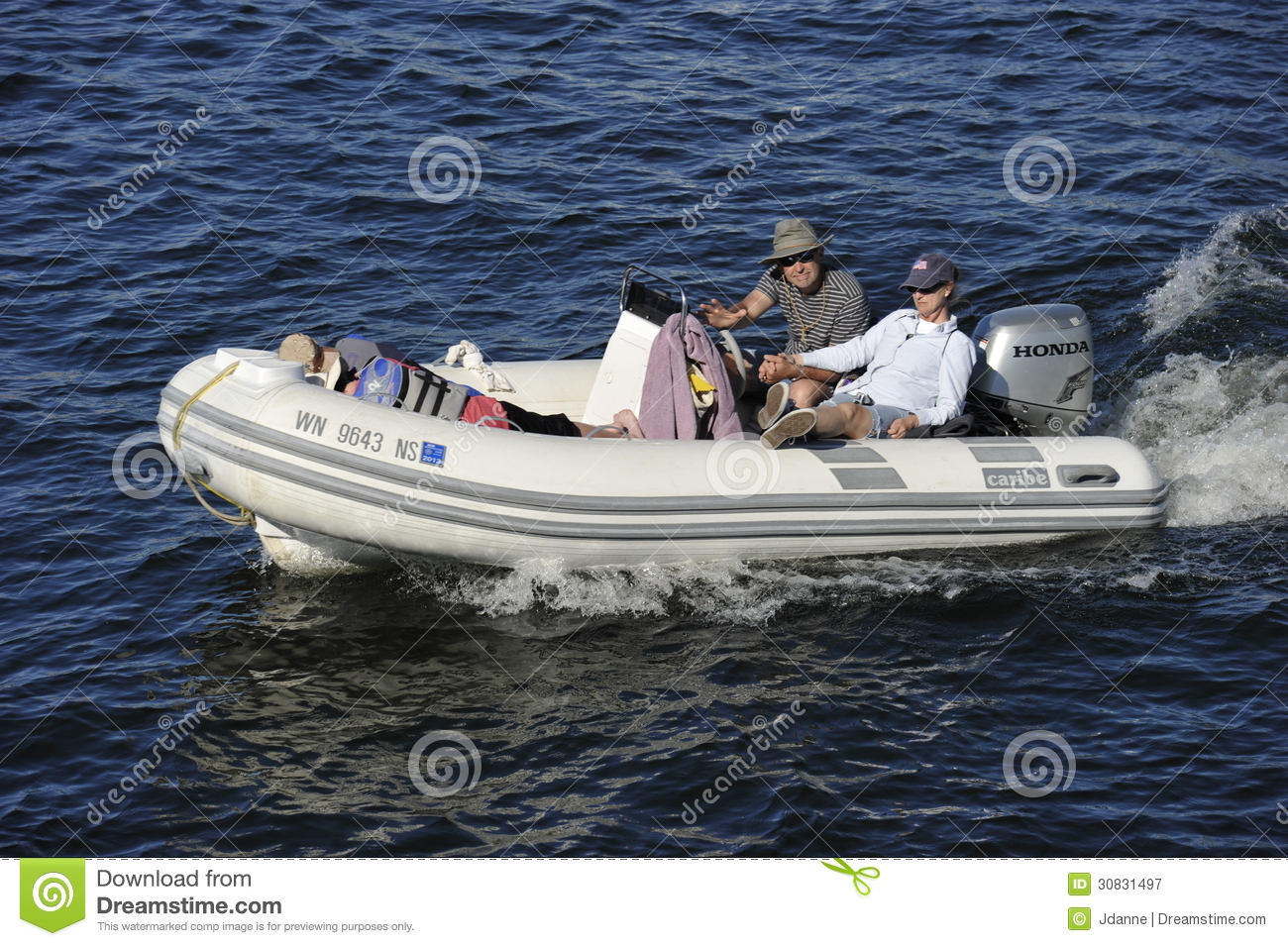 Rubber Motor Boat Editorial Photography Image 30831497