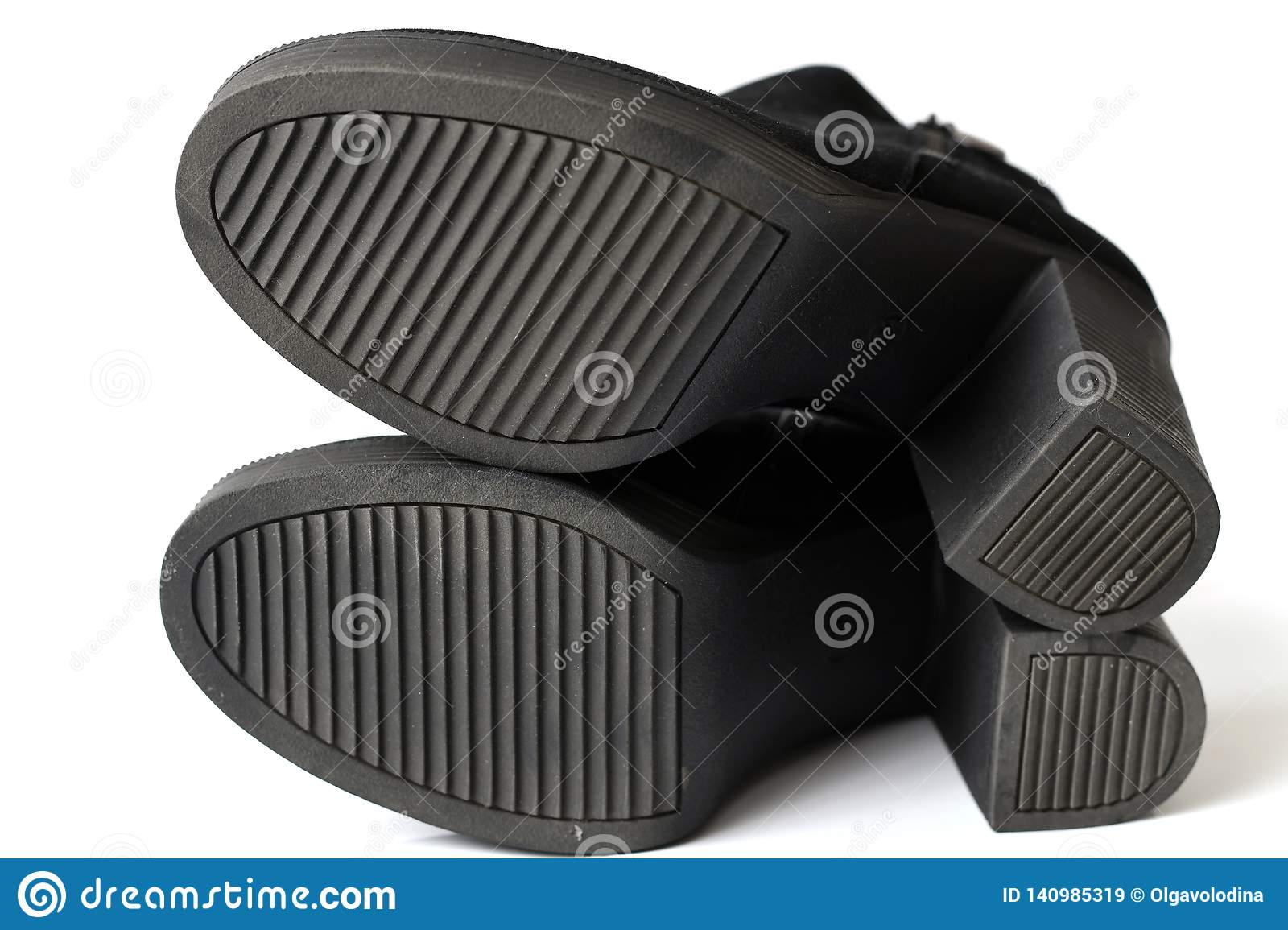 Rubber Ribbed Non-slip Sole On A Womens