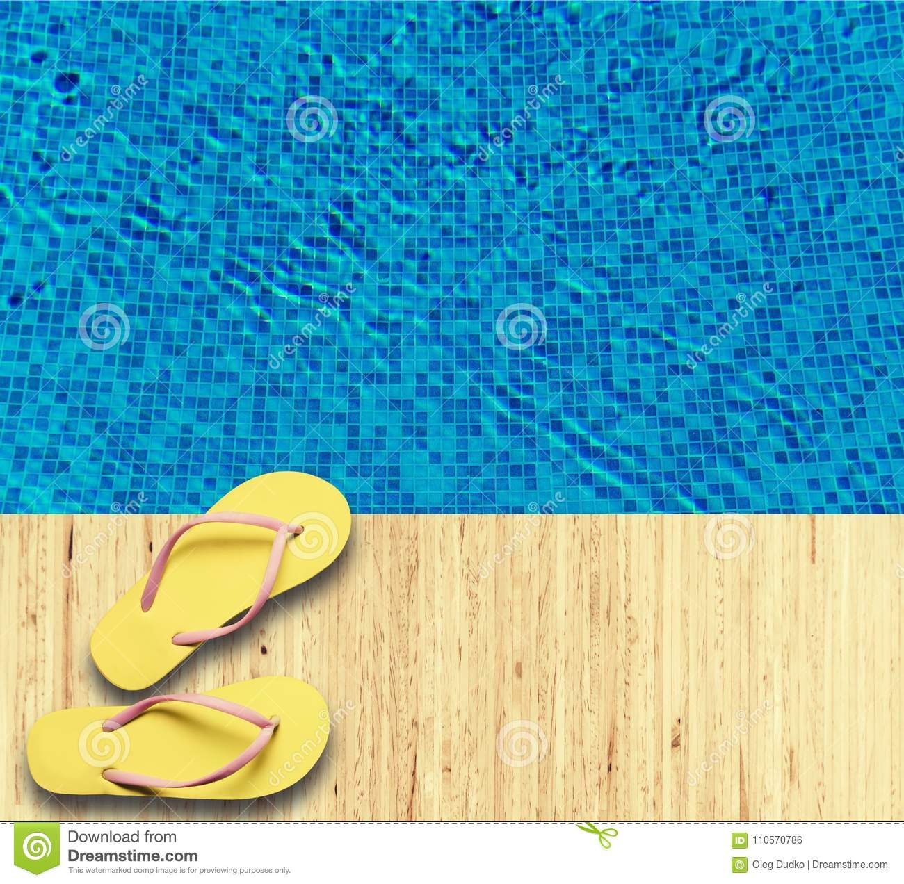 05bc4f22add465 Rubber Sandals Flip Flops Near Swimming Pool Stock Photo - Image of ...