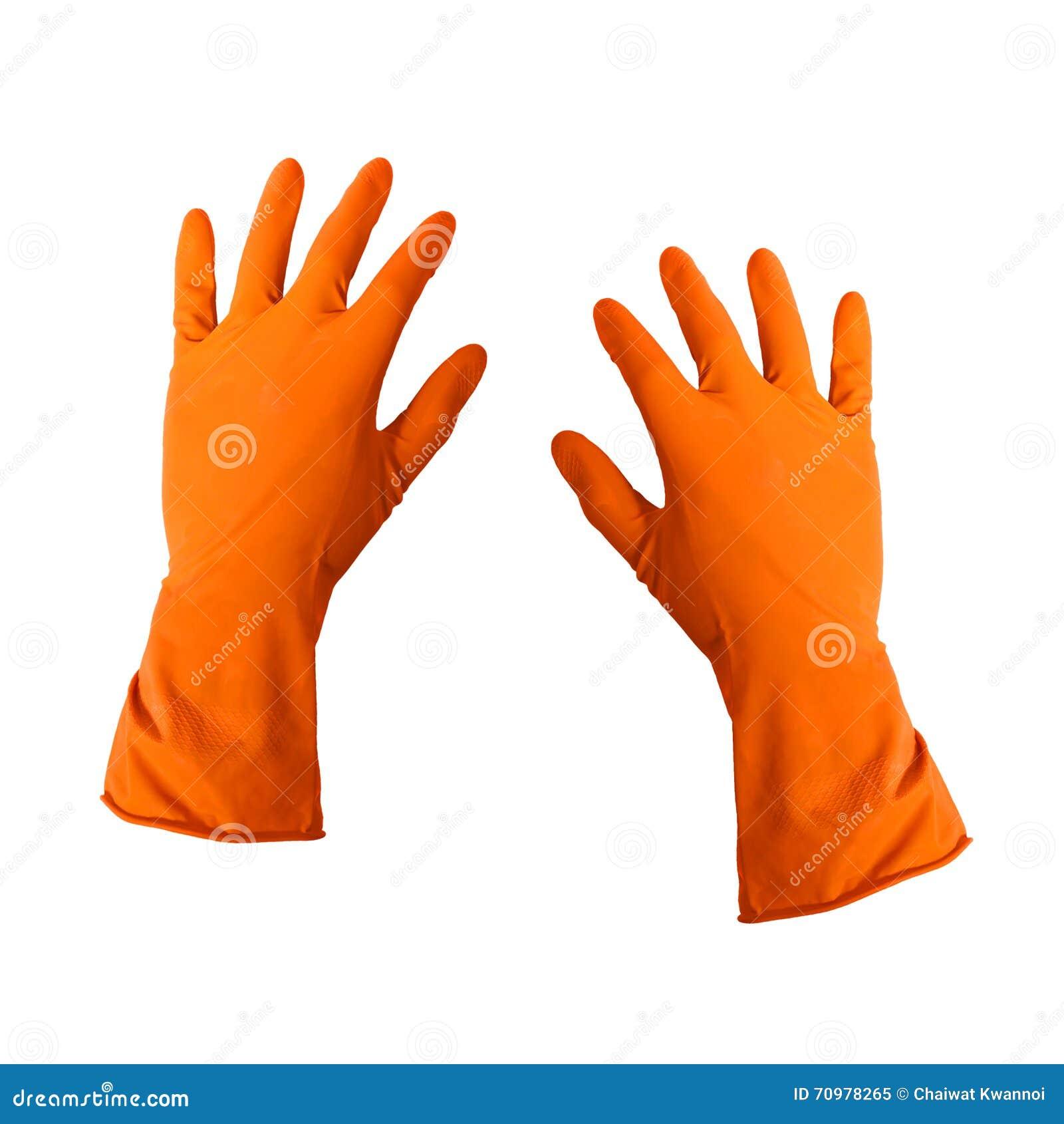 Rubber schoonmakende handschoenen