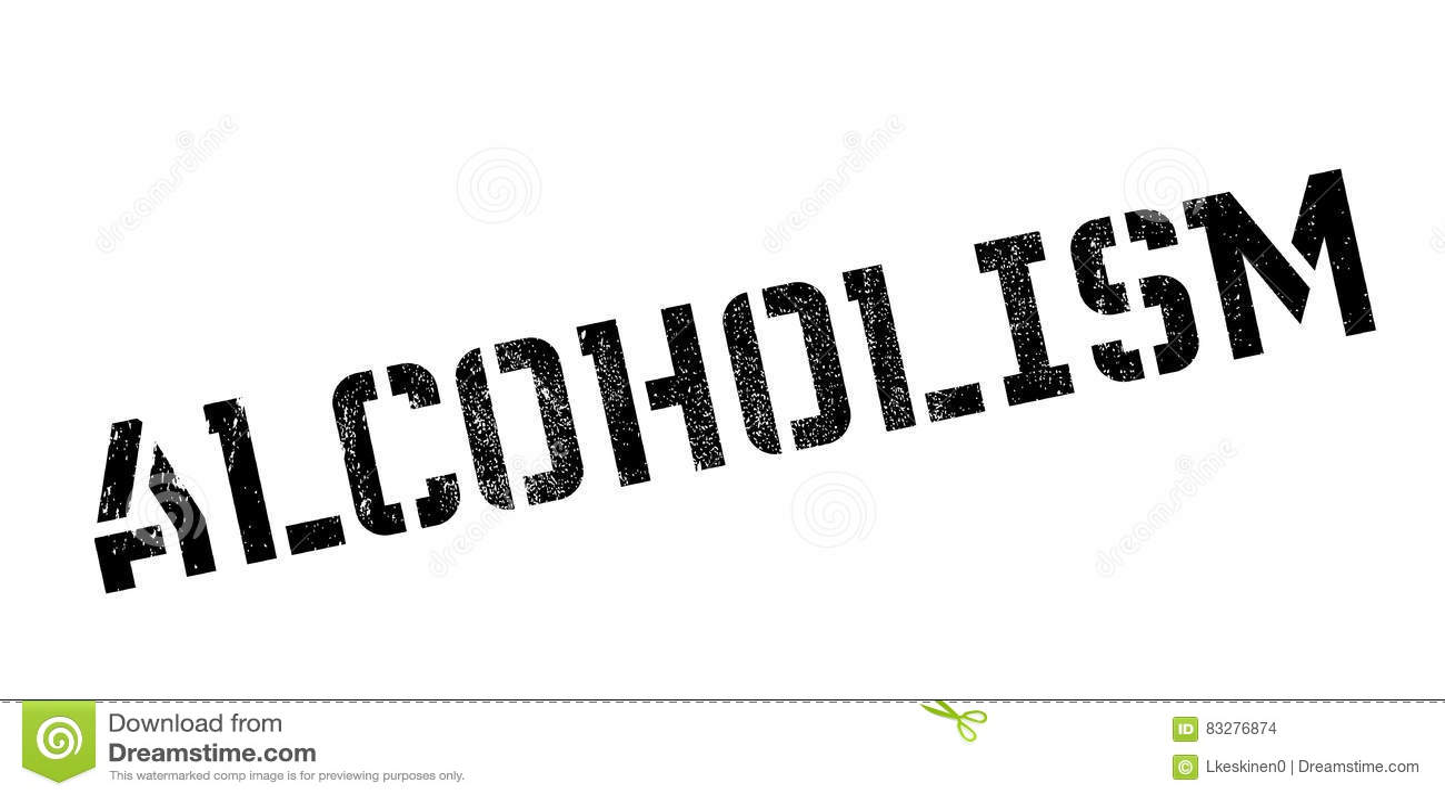 Rubber stämpel för ALKOHOLISM
