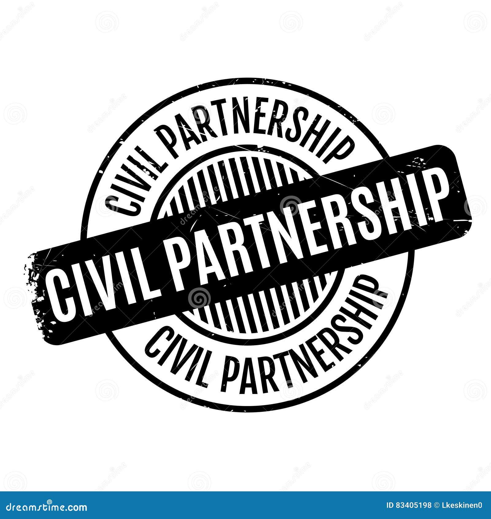 Rubber stämpel för borgerligt partnerskap