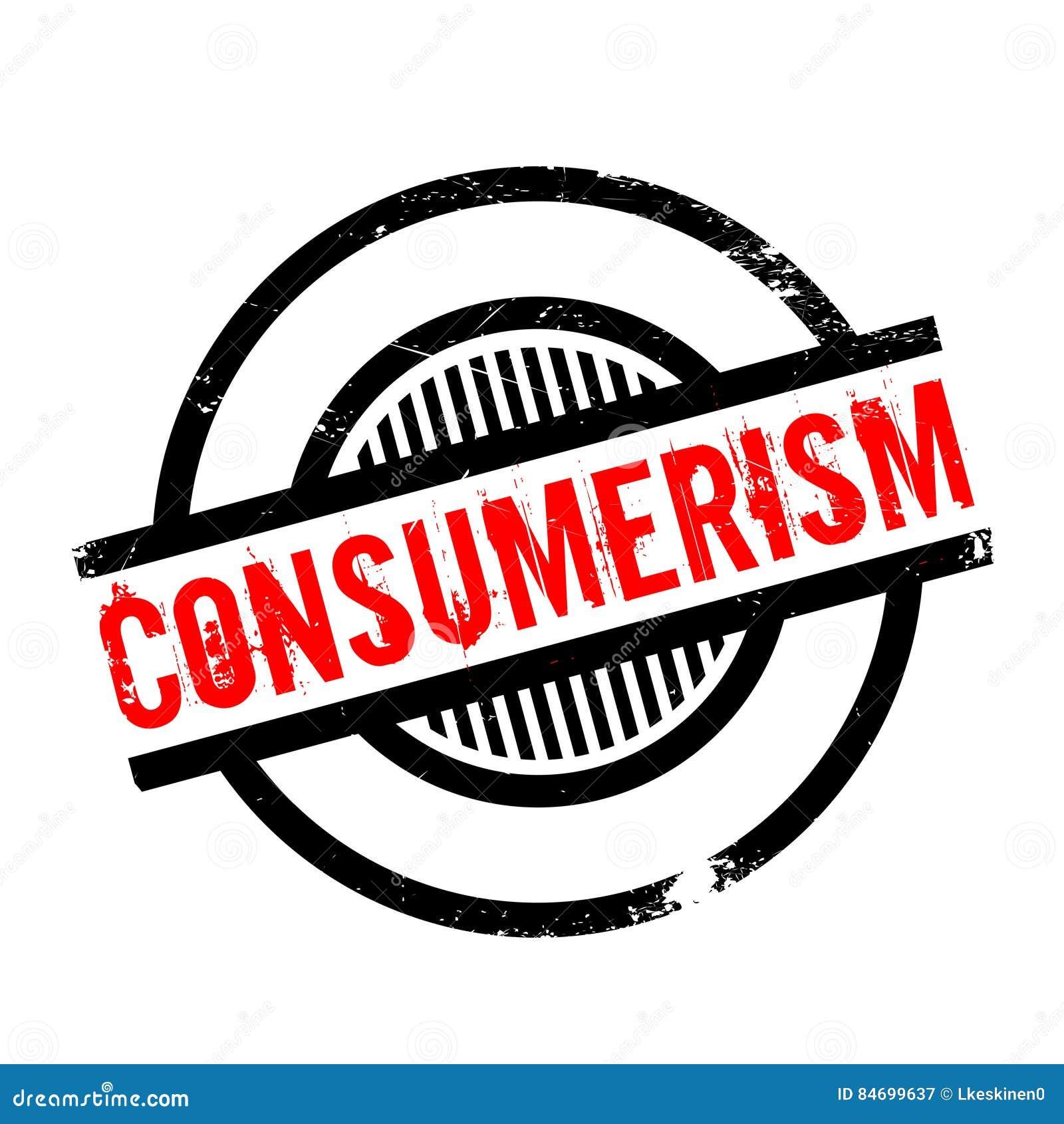 Rubber stämpel för Consumerism