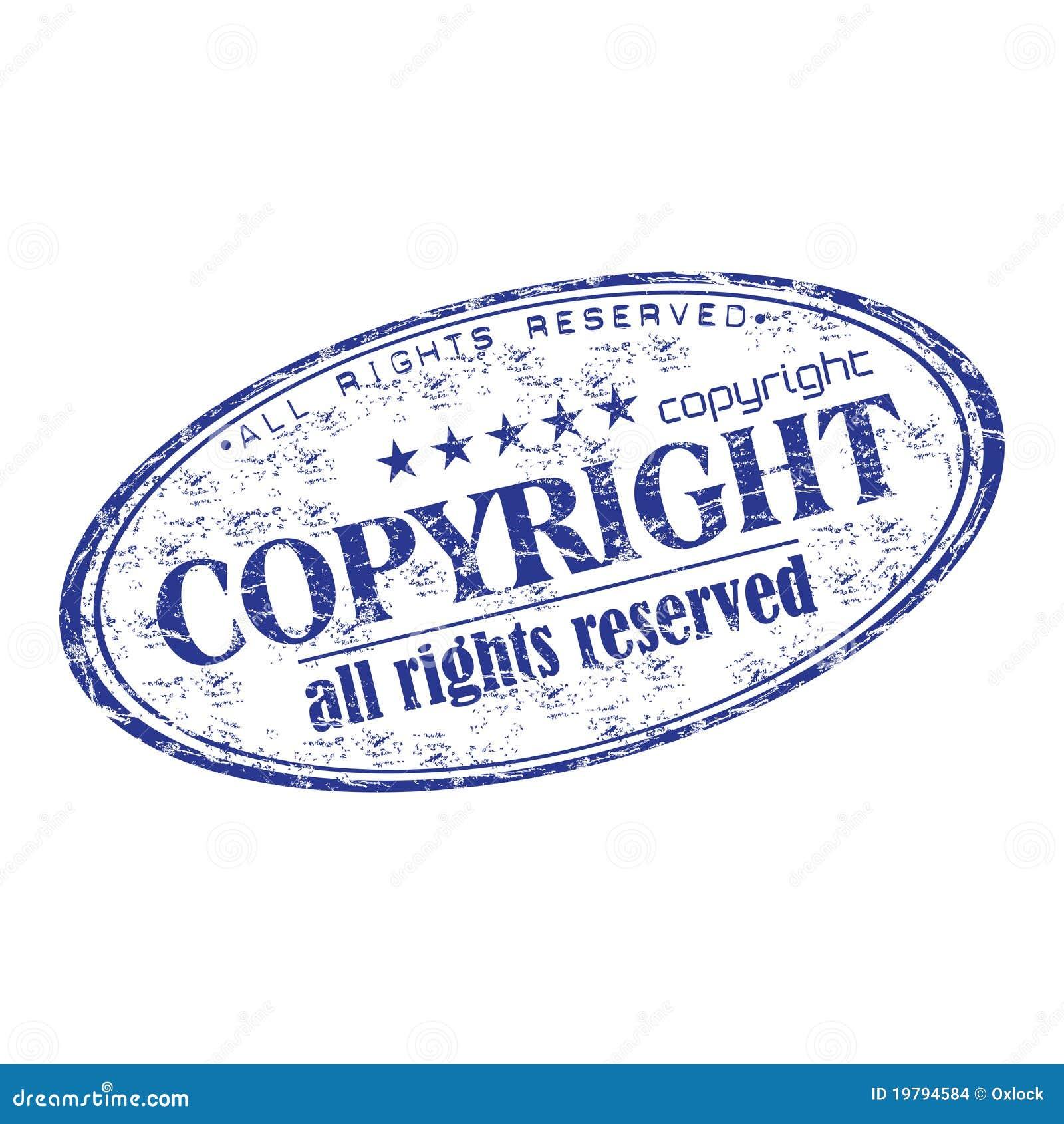 Rubber stämpel för copyright-grunge