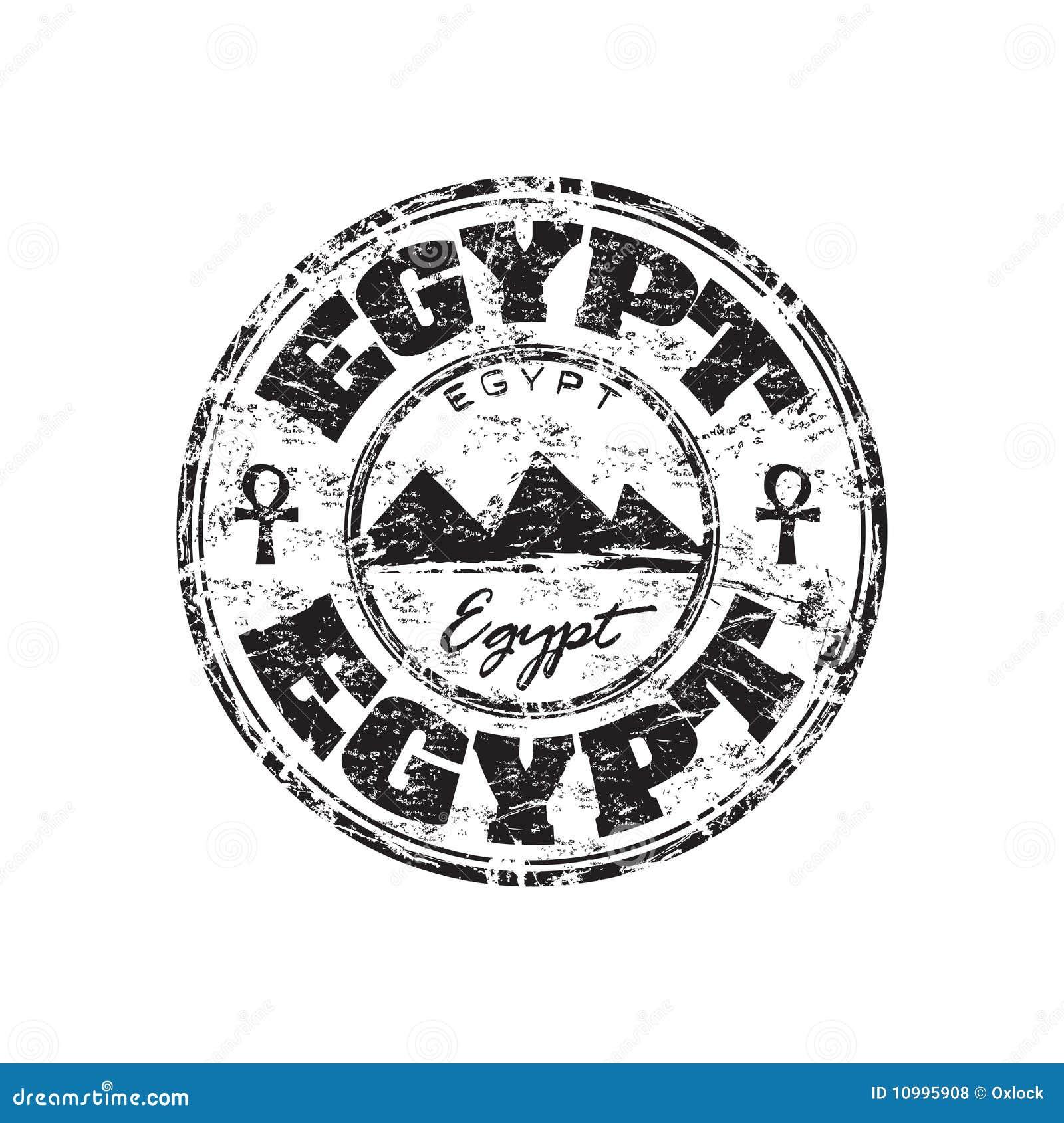 Rubber stämpel för egypt grunge