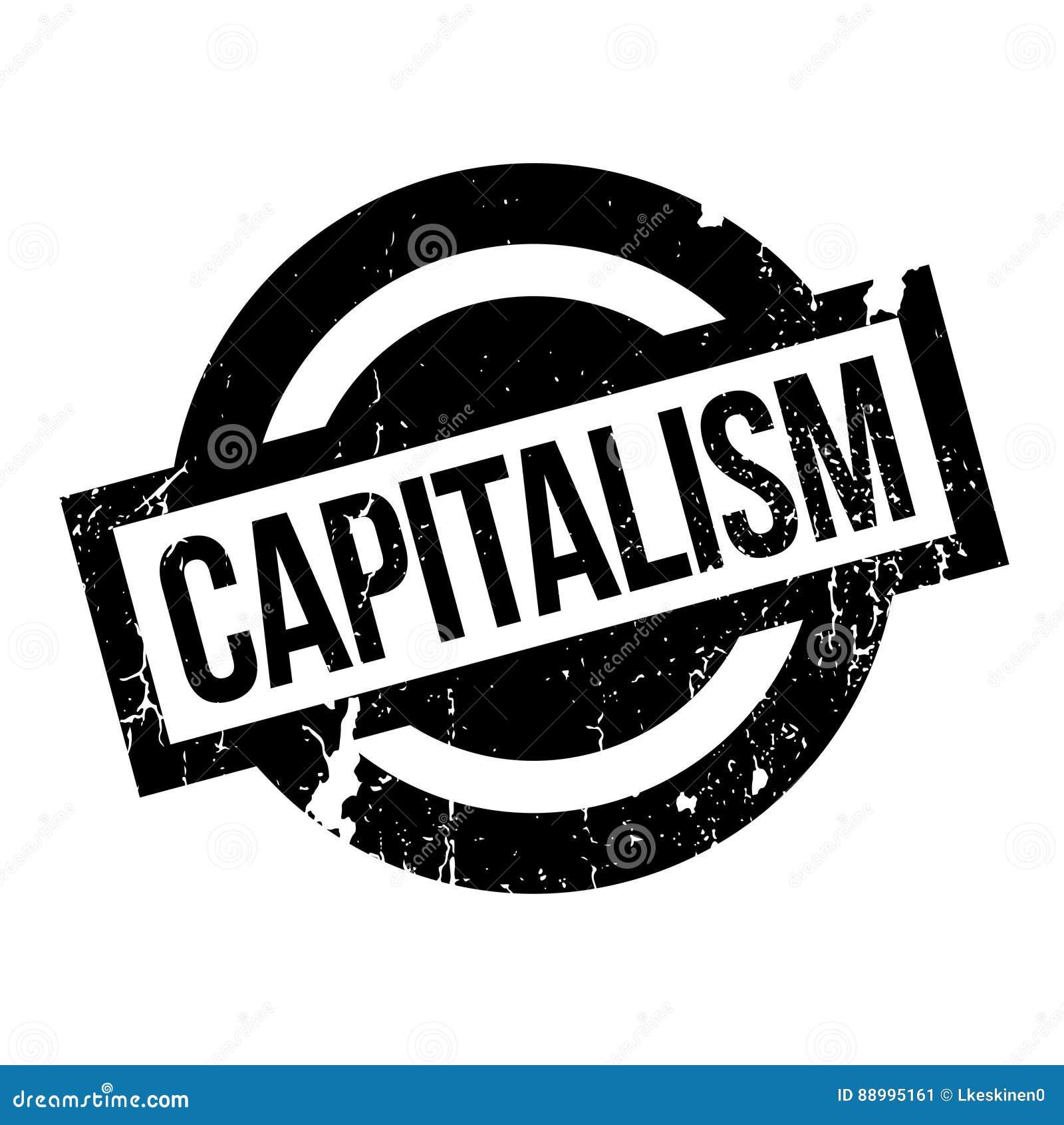 Rubber stämpel för kapitalism