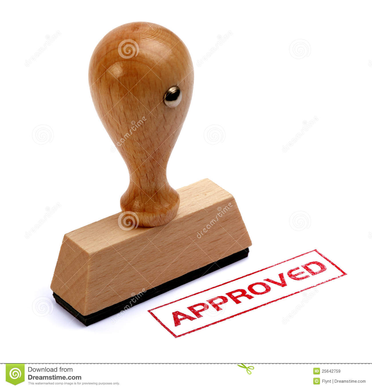 Rubber stamp approved stock image. Image of handle ...