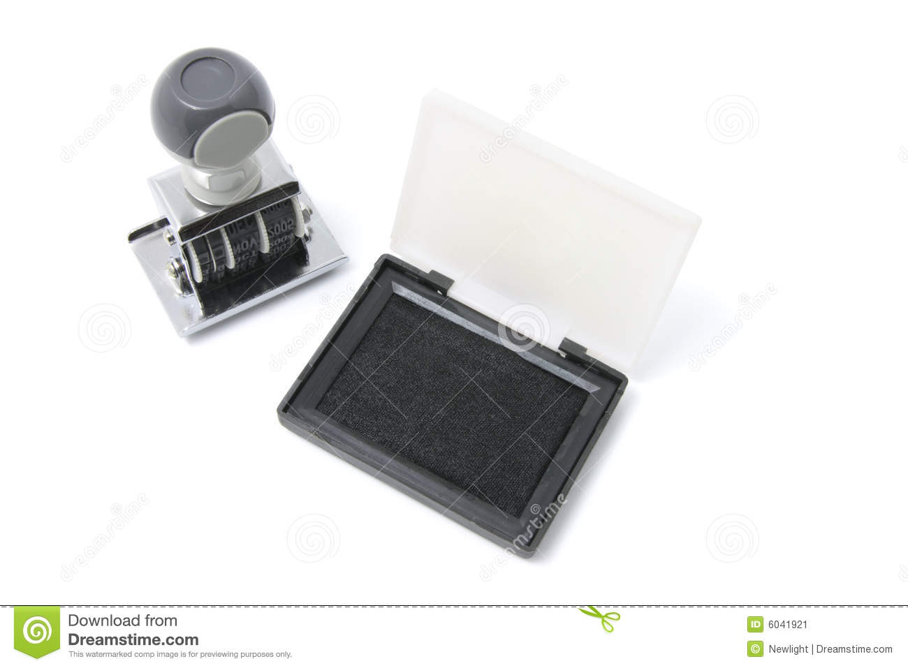 Rubber Stamp and Ink Pad stock image  Image of isolated