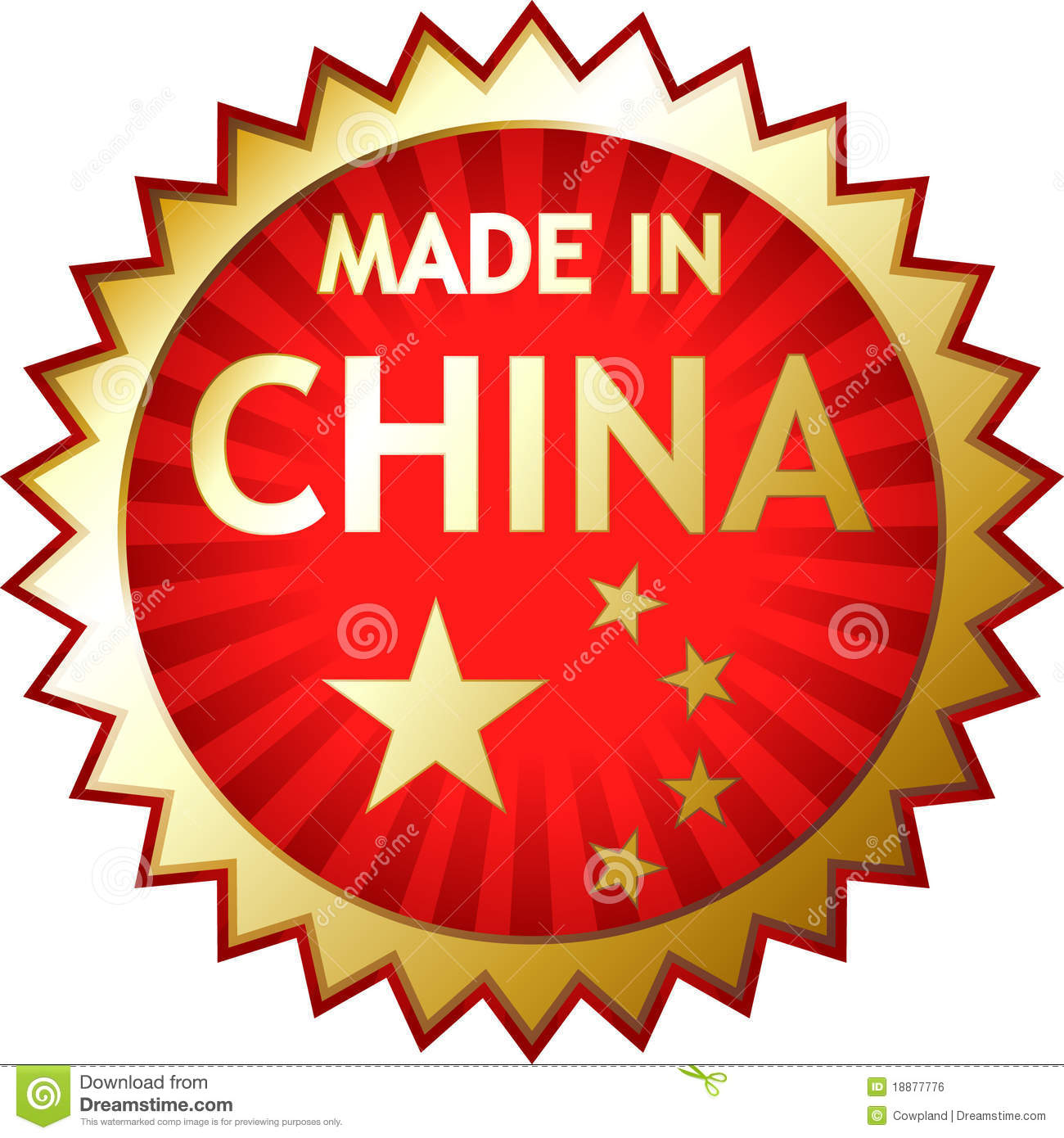 rubber stamp made in china royalty free stock image. Black Bedroom Furniture Sets. Home Design Ideas