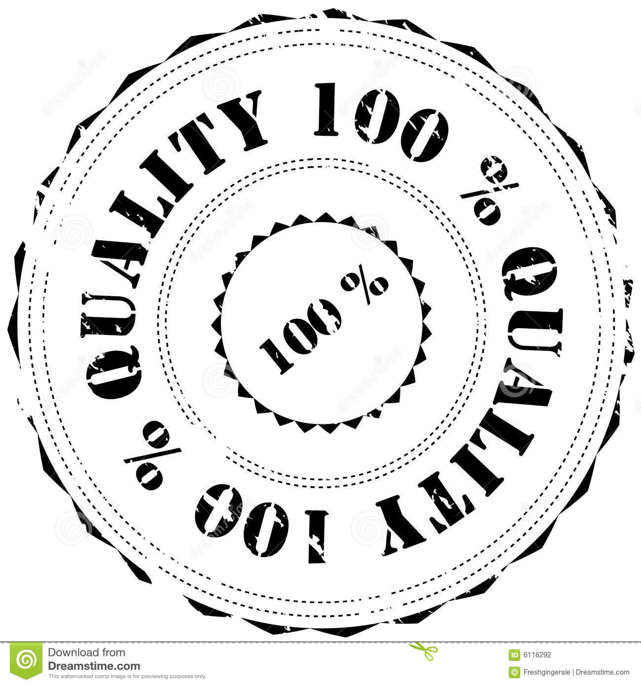 Rubber Stamp Quality 100 Stock Photography Image 6116292