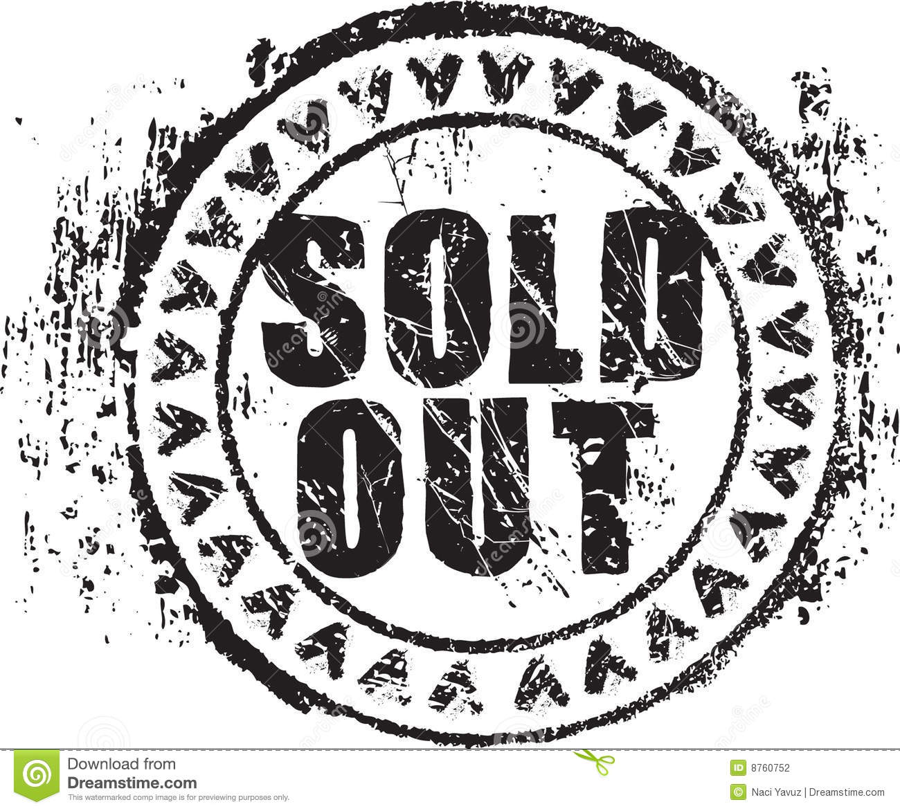 Rubber Stamp Shape With The Words Sold Out Stock ...