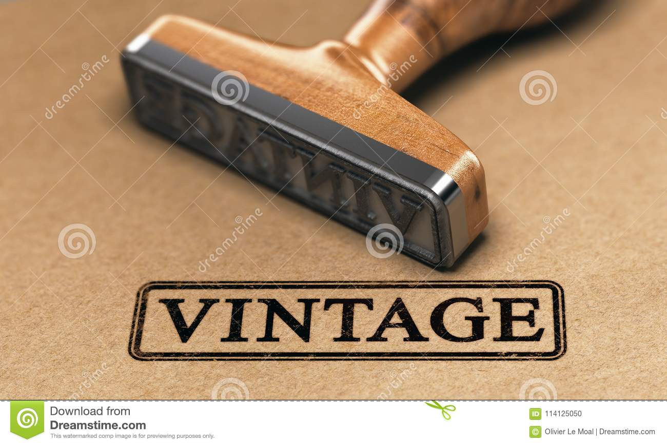 Download Vintage Collection Or Style Rubber Stamp Stock Illustration
