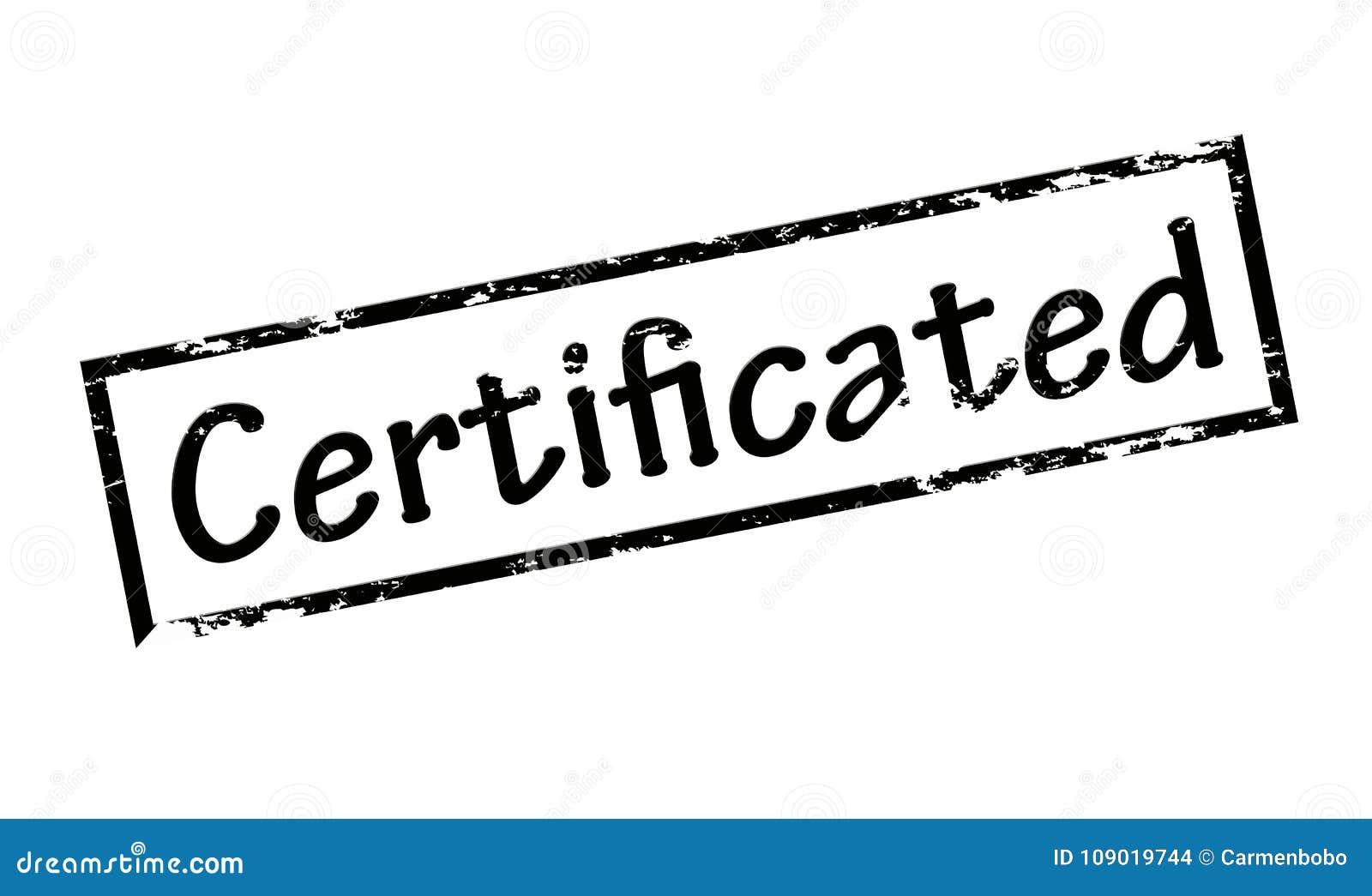 Certificated Stock Illustration Illustration Of Grunge 109019744