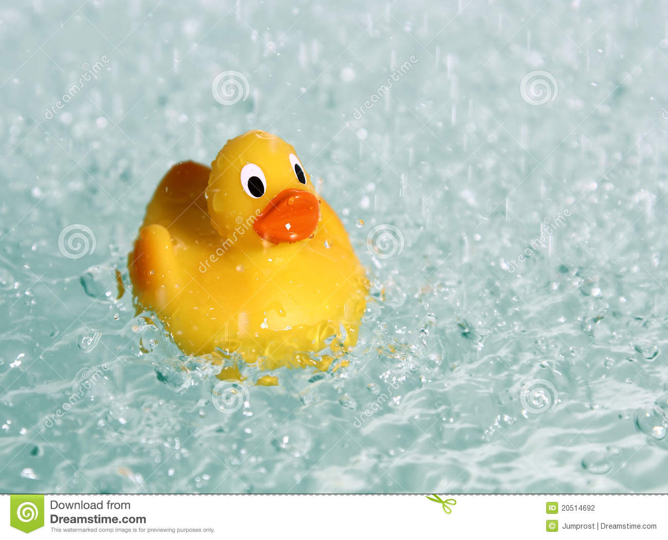 Rubber Toy Duck In Water Stock Photography - Image: 20514692