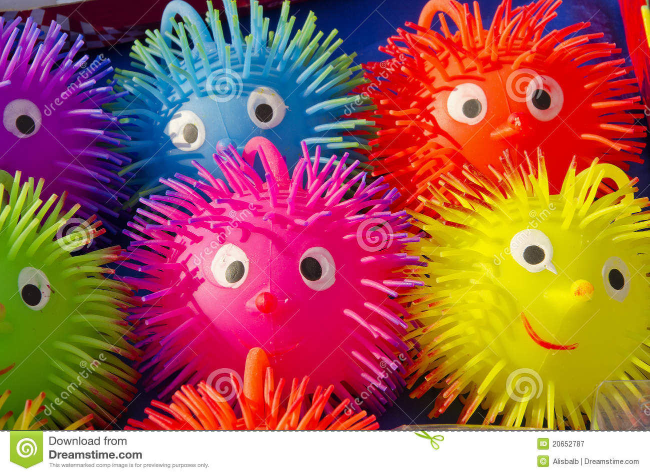 Rubber toys in the fair stock image. Image of green, blue - 20652787