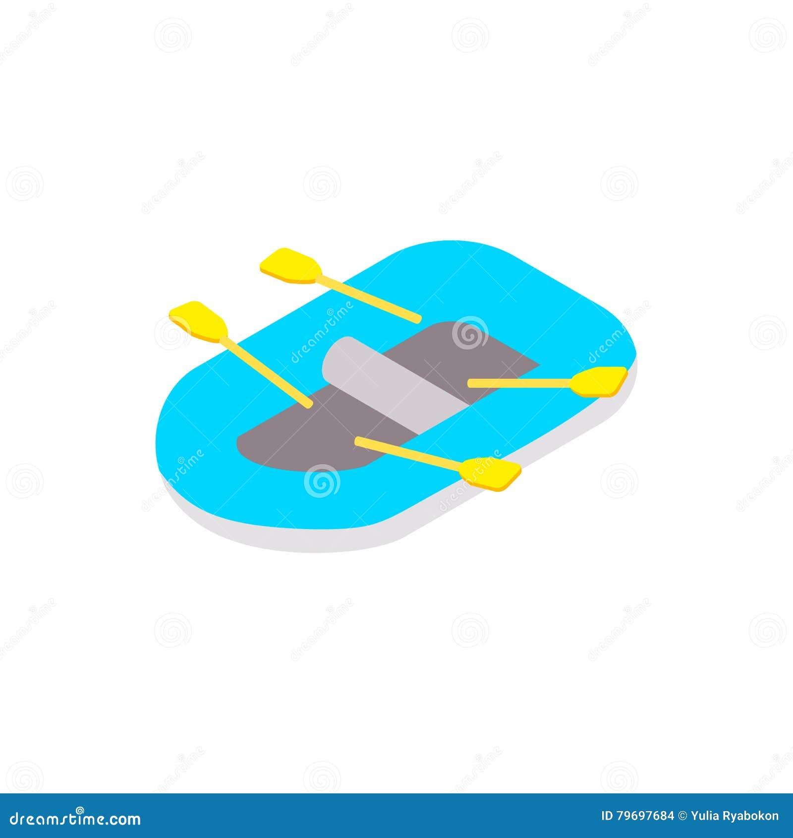 Rubberboot isometrisch 3d pictogram