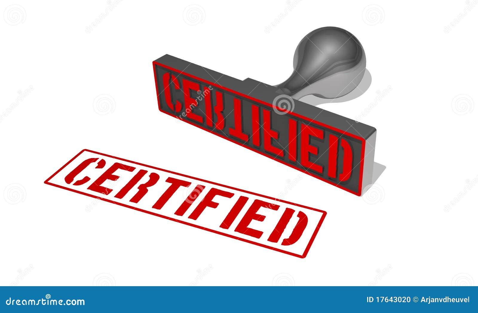 rubberstamp certified stock illustration illustration of