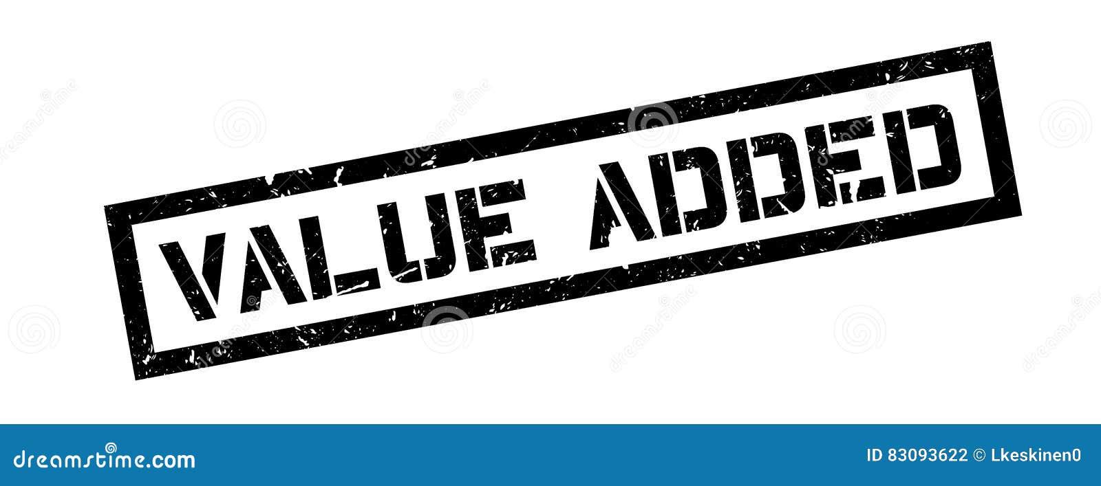 Rubberzegel op de toegevoegde waarde