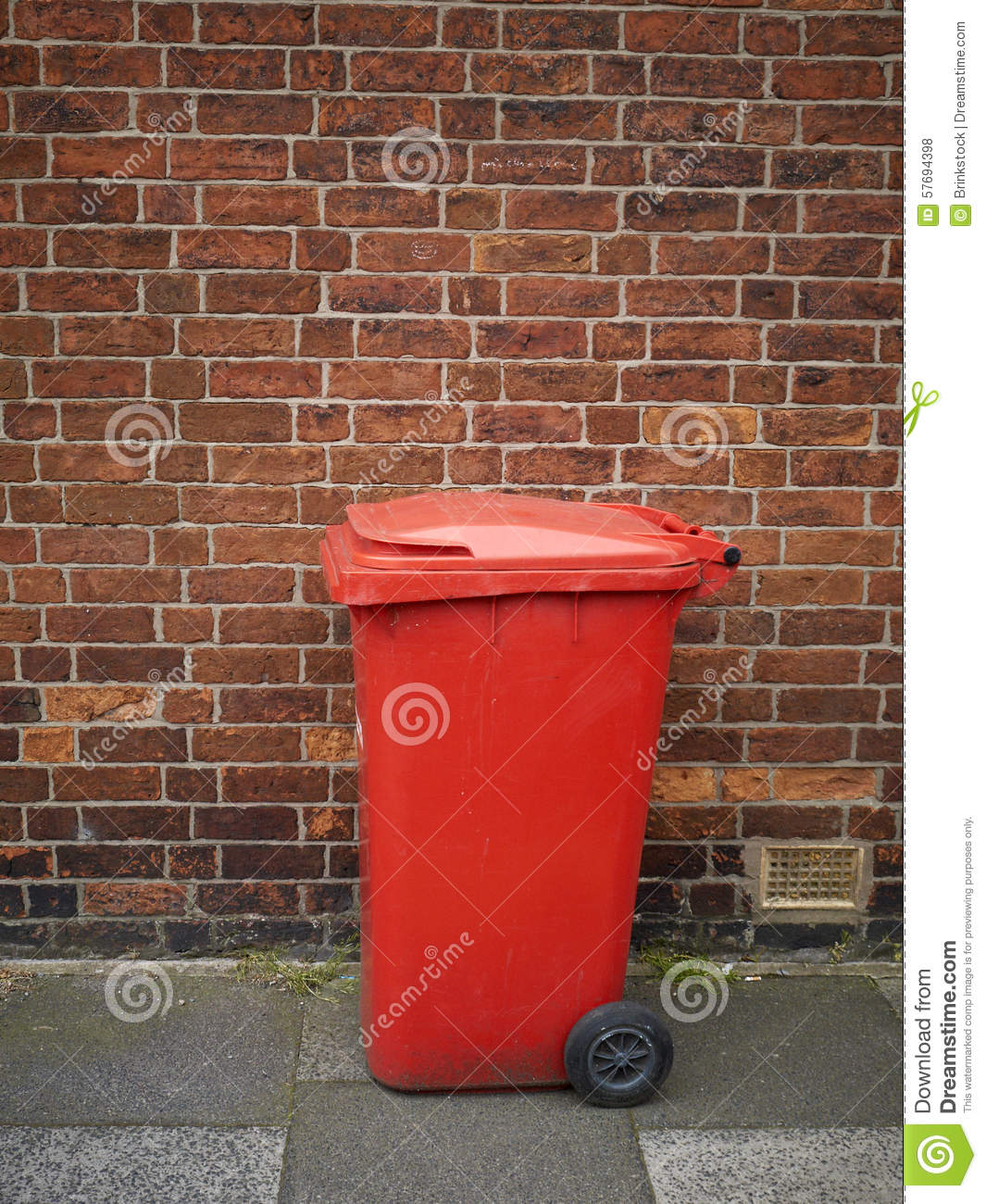 Rubbish bin stock photo image 57694398 - Rd rubbish bin ...