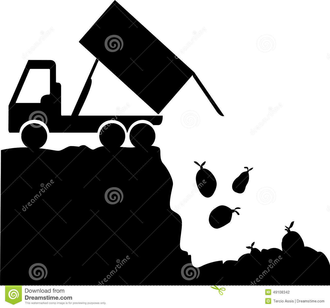 Rubbish disposal site stock vector illustration of for Free drawing websites