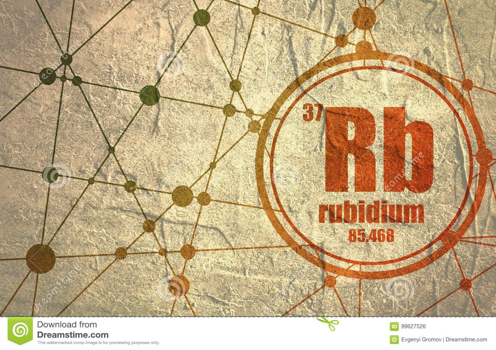 Rubidium Chemical Element Stock Illustration Illustration Of