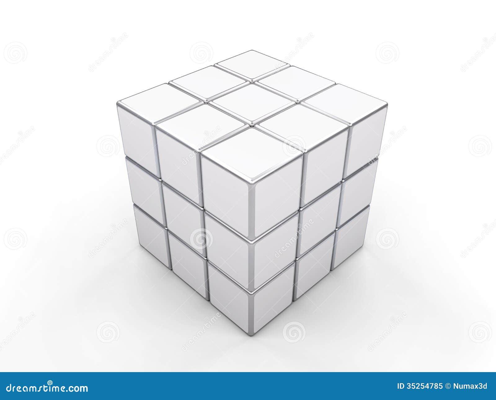 rubik blanc de cube image ditorial image 35254785. Black Bedroom Furniture Sets. Home Design Ideas