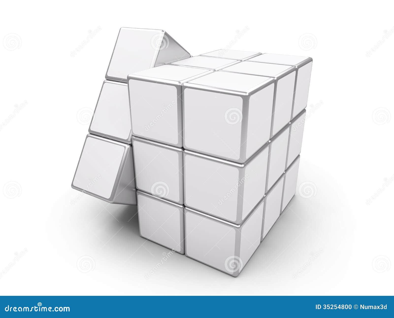 rubik blanc de cube image ditorial illustration du place 35254800. Black Bedroom Furniture Sets. Home Design Ideas